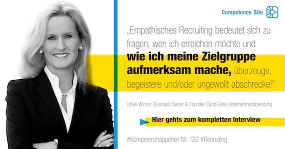 Ulrike Winzer - Competence Site - Kompetenzhäppchen Recruiting