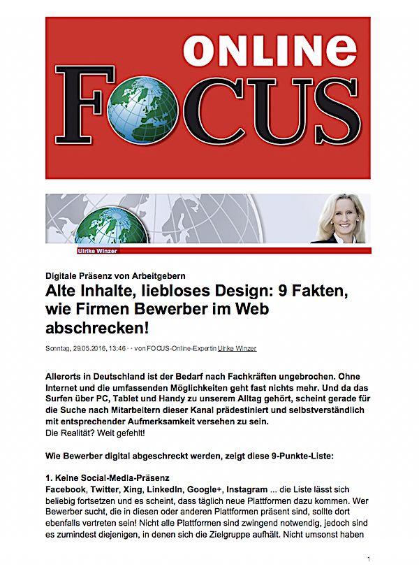 Ulrike WINzer Vorträge - 9 Fakten wie Firmen Bewerber abschrecken