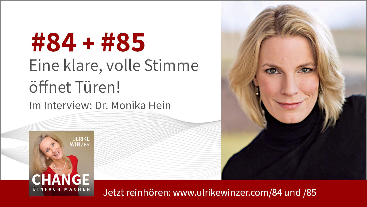 #81 + #82 Interview Dr. Monika Hein - Podcast Change einfach machen! By Ulrike WINzer