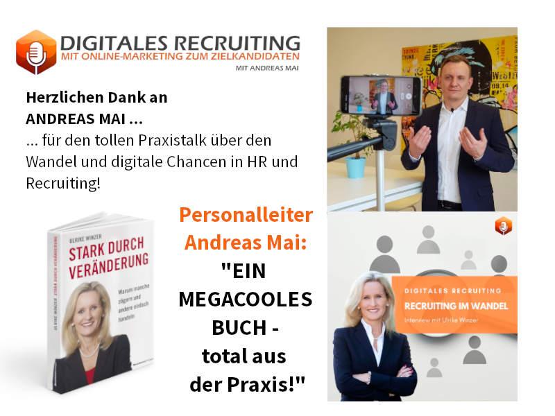 Ulrike Winzer im Podcast Digitales Recruiting von Andreas Mai