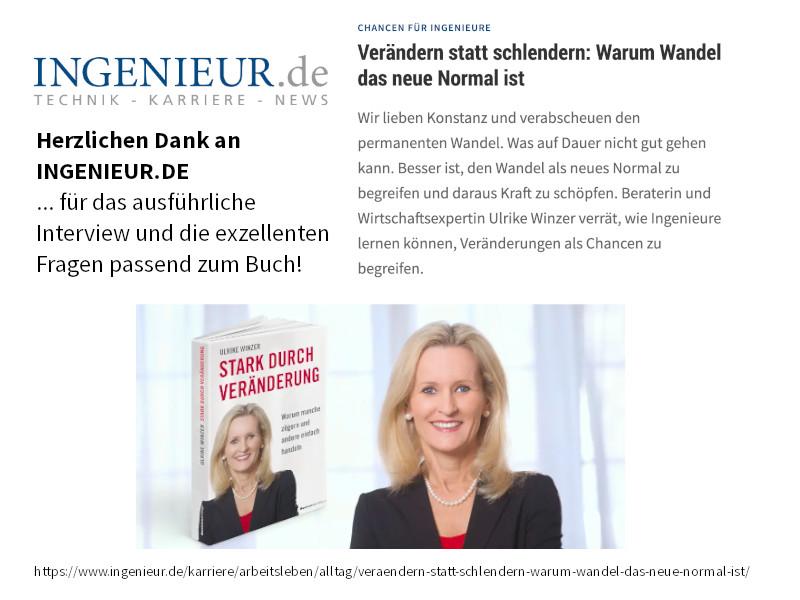 Ulrike WINzer bei ingenieur.de