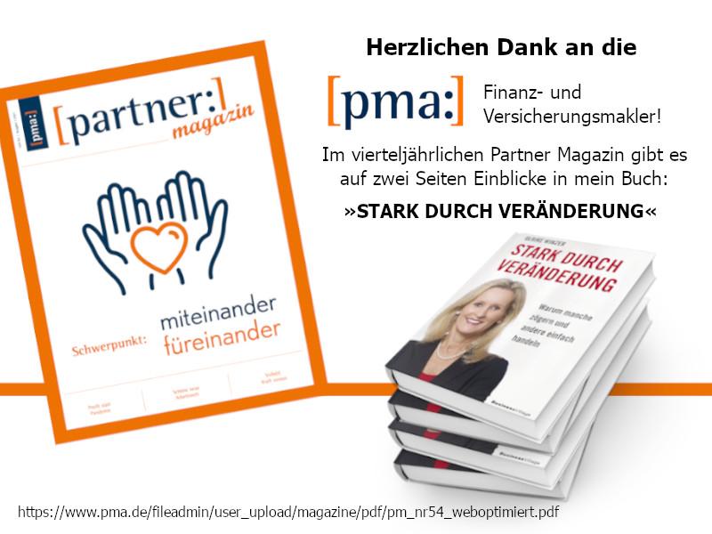 Ulrike WINzer - Bericht im PMA Partner Magazin