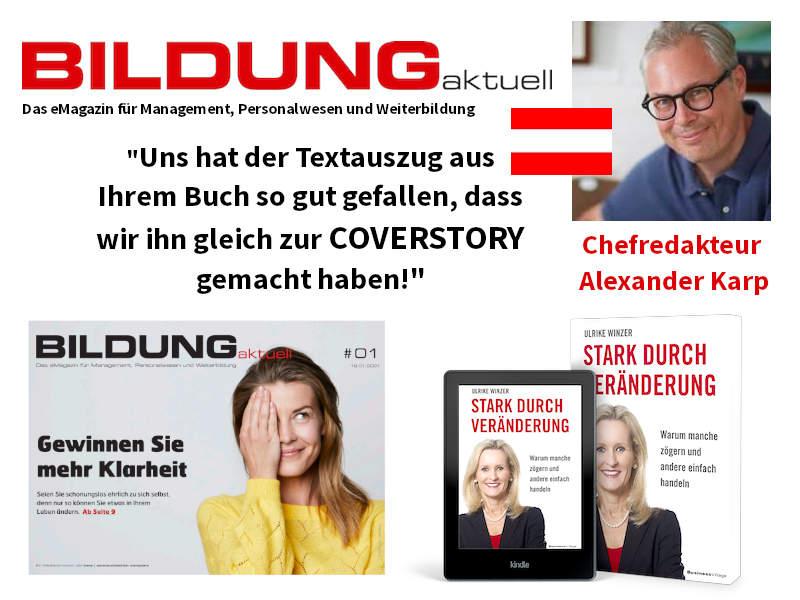 Ulrike WINzer - Coverstory in BildungAktuell