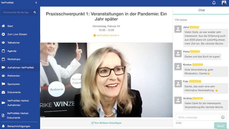 Ulrike WINzer - Moderation Verpraweb 2021