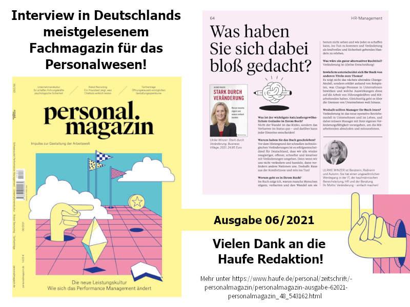 Ulrike WINzer - im Personalmagazin!